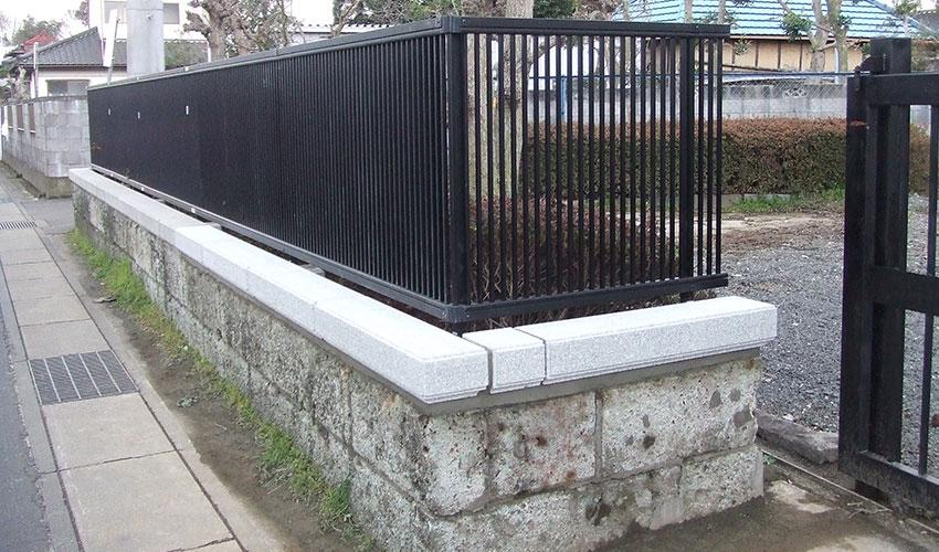 施工後 下部2段を残し、コンクリート製の笠置を設置